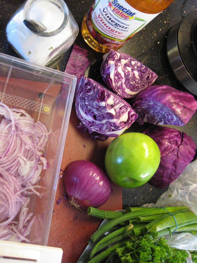 Ingredientes Ensalada de Repollo Morado