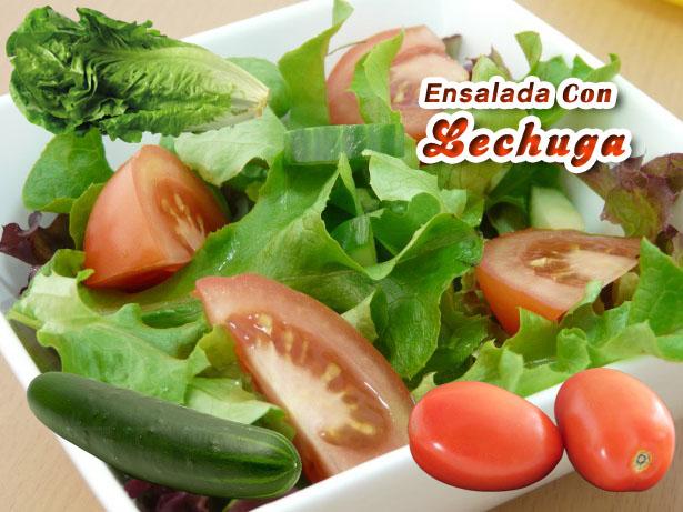 Ensalada Con Lechuga | Recetas Con Ensaladas