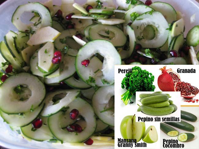 Ensalada de Pepino y Frutas | Recetas Con Ensaladas