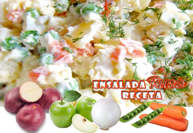 Ensalada Rusa Receta | Preparación De Ensaladas Frías