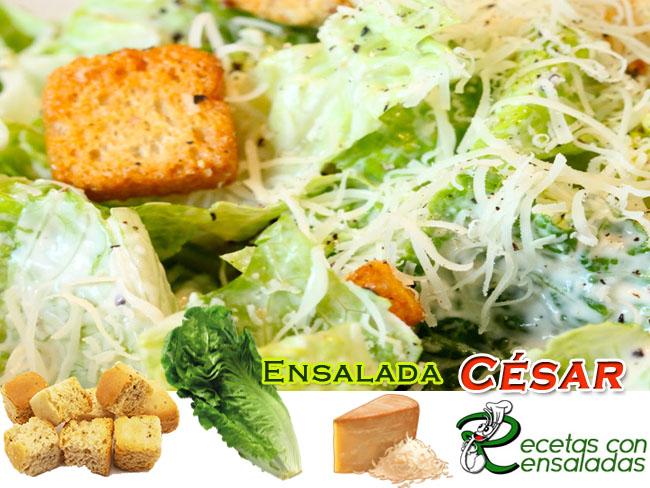 Ensalada César Deliciosa| Recetas Con Ensaladas