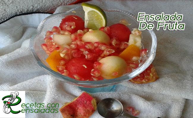 Ensalada De Fruta | Ensaladas Sencillas Caseras