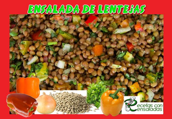 Ensalada De Lentejas | Recetas con Ensaladas